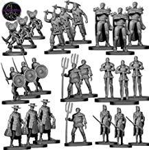 24 Miniatures Town Enemies Unpainted for DND Monster Miniatures 28mm Fantasy RPG Minis - 8 Unique Characters - D&D Miniatures Bulk Dungeons and Dragons Miniatures | for DND Figures I Setting & Quests