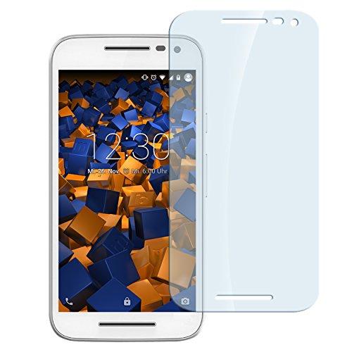 mumbi Hart Glas Folie kompatibel mit Motorola Moto G 3. Generation Panzerfolie, Schutzfolie Schutzglas (1x)