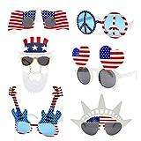 TD.IVES American Flag Glasses USA Patriotic...
