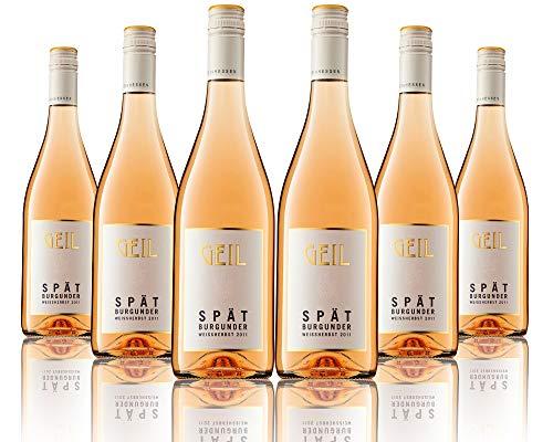 6 Flaschen Johann Geil   Spätburgunder Weissherbst mild   Gutswein   2019   Deutscher Wein   Qualitätswein   Oekonomierat Johann Geil Erben   Reihnhessen   Nr. 1905