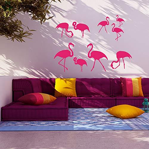 BailongXiao Etiqueta de la Pared del Vinilo del pájaro para la habitación de los niños Animal Natural Pink Bird Tatuajes de Pared Dormitorio extraíble decoración del hogar Arte Mural Moda 103x75 cm