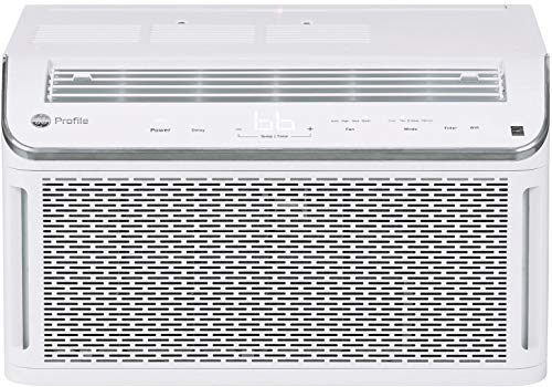 GE Profile Energy Star 8,100 BTU Smart Ultra Quiet Window Air Conditioner for Medium Rooms up to 350 sq ft, White