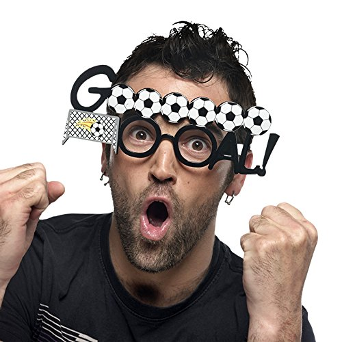 Elbenwald Limit Sport – Lunettes de Party avec Motif de Football – Articles de Blague excellents pour déguisements