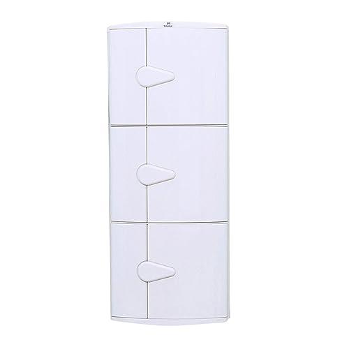 Nilkamal 3 Door Plastic Storage Corner Cabinet (Ivory)
