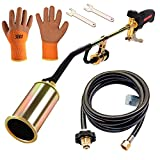 Propane Torch Weed Burner,Gardening Outdoor Weed Burner with Push Button Igniter and 9.8 ft Hose,Heavy Duty Multifunctional Burner for Burning Weeds, Melting ice and Snow,Heating Asphalt