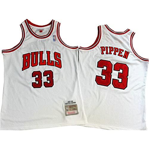 ZRBP # 33 Bulls Pippen Uniformes de Baloncesto para Hombres, Uniformes de Equipo, Camisetas Deportivas, Chalecos, Blusas sin Mangas, Letras y números Personalizados suelt S
