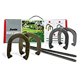 Franklin Sports Horseshoes Sets - Includes 4 Horseshoes and 2 Stakes - Official Weight Horseshoes and Stakes - All Weather Durable Sets - Starter
