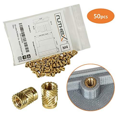 ruthex® inserto roscado M4 (50 piezas) | RX-M4x8,1