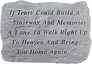 Design Toscano If Tears Could Build A Stairway: Cast Stone Memorial Garden Marker