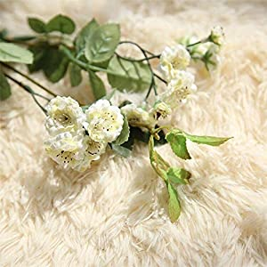 Artificial and Dried Flower Artificial Lilac Silk Flowers Long Branch 10 Heads 4 Bud Fake Flowers Wedding Stage BackDecoration Faux Flowers