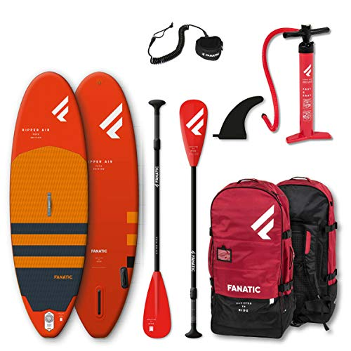 Fanatic Ripper Air 7';10'Sup Gonflable Stand Up Paddle Boarding Package - Board, Bag, Pump & Paddle...