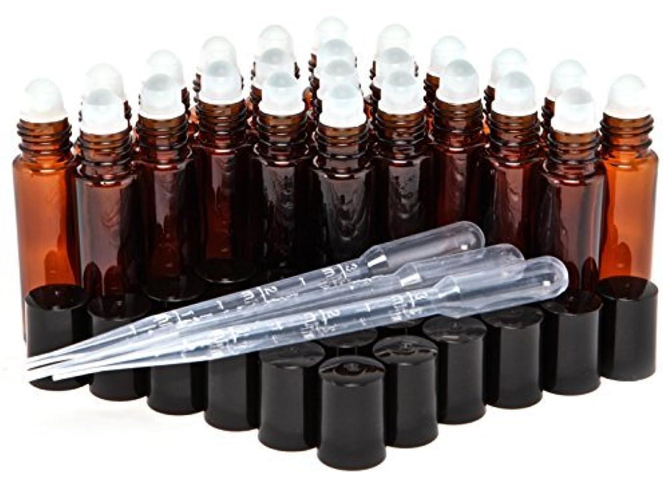 たとえジョガー消化24, Amber, 10 ml Glass Roll On Bottles with 3-3 ml Dropper's [並行輸入品]