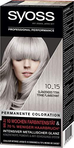 SYOSS Coloration, Haarfarbe Stufe 3 10_15 Glänzendes Titan, intensiver metallischer Glanz, 3er Pack (3 x 115 ml)