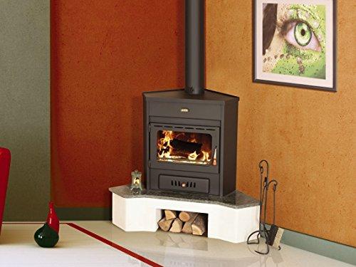 Estufa de leña Corner modelo Log quemador de combustible s