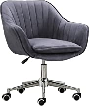 Office Chair Computer Desk Chair Modern Bar Chair with Velvet Cushion and Steel Pentagonal Foot Office Chair, Height Adjus...