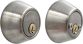 Double Cylinder Two Sided Deadbolt Stainless Steel Knob Door Handle Set (Brushed Stainless Steel)