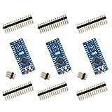 ELEGOO Nano Placa CH340/ATmega328P Compatible con Arduino IDE Proyecto Nano (Paquete de 3)