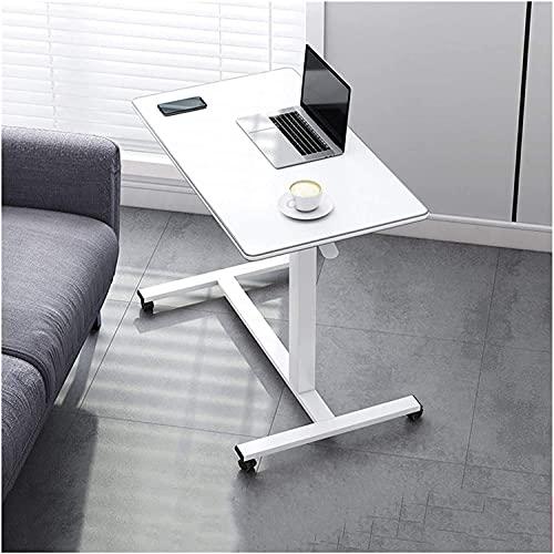 Mesa auxiliar mesas Mesa de muebles para el trasero con ruedas | Escritorio de computadora portátil con forma de CA.SP aplicable a oficina, aula y hogar ( Color : Gray , Size : 78*43 (75-110)CM )