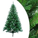 Hengda 120 cm Albero di Natale Artificiale PVC Albero di Natale Deco Albero di Natale in PVC Verde con Supporto Decorazione Natalizia con Supporto in Metallo-Verde