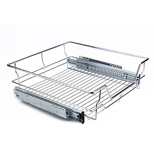 Saque las cestas de alambre, cajón telescópico del almacenamiento para la estantería de la cocina de los 500MM
