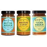 Maya Kaimal Indian Simmer Sauce Variety Pack (Butter Masala, Madra Curry & Tikka Masala)