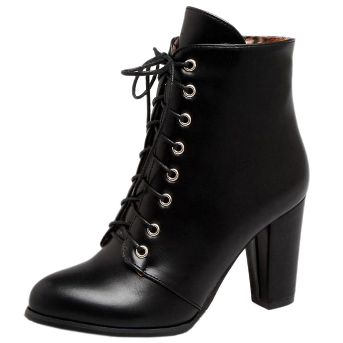 彼女自身流体駐地[タオフェン] レディース ファッション ショート ブーツ サイドジップ ハイヒール オフィス ブーツ