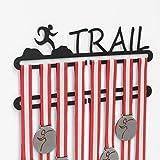 Medallero de trail running Doble en negro