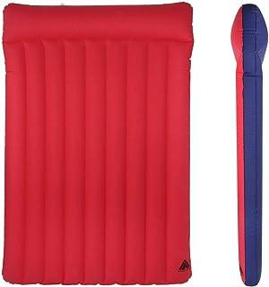 10T Outdoor Equipment Unisex - Adultos Ruby Double 2 Mann Luftbett Baumwoll-Matratze 200x130 cm Retro Camping Luftmatratze Campingmatte Rojo/Azul 2 Personas