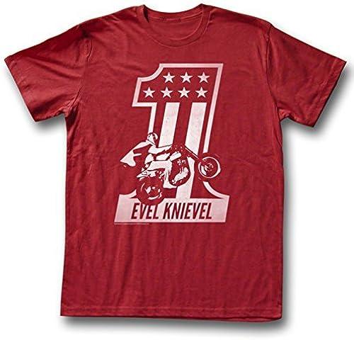 Evel Knievel - rot One T-Shirt Größe XXL by Evel Knievel