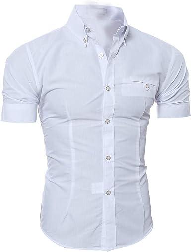 blusas para hombre Camiseta Elástica Casual/Formal para ...