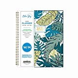 Blue Sky 2021 Weekly & Monthly Planner, Flexible Cover, Twin-Wire Binding, 8.5' x 11', Grenada (125890)