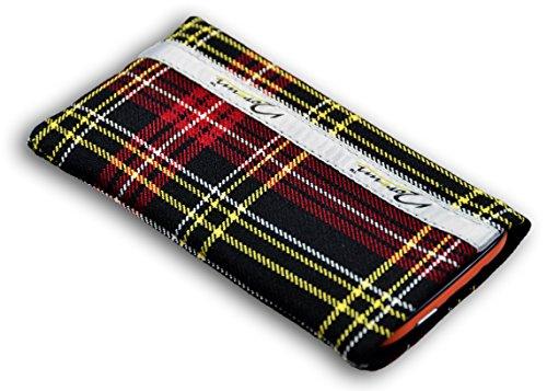 Norrun Handytasche / Handyhülle # Modell Griseldis # ersetzt die Handy-Tasche von Hersteller / Modell CAT B100 # maßgeschneidert # mit einseitig eingenähtem Strahlenschutz gegen Elektro-Smog # Mikrofasereinlage # Made in Germany