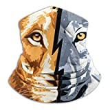 KOYA94 Wolf Vs Lion Winter Neck Warmer para hombres mujeres Ski Neck Gaiter Cover mascarilla