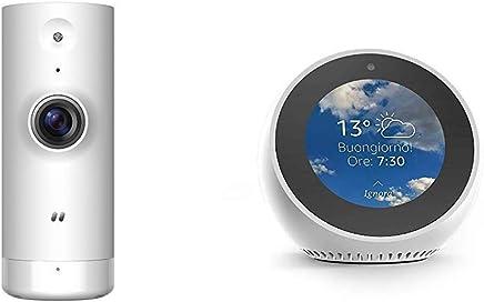 Echo Spot bianco + D-Link DCS-8000LH Mini Telecamera HD, Wi-Fi, Visualizzazione Grandangolare 120°, Registrazione Cloud Gratuita, Funziona con Alexa - Trova i prezzi più bassi