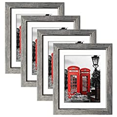 SPECIFICATION: The 8x10 rustic picture frame set includes 4 PCs 8x10 photo frame. The overall size of 8x10 rustic picture frame for the outline is 10.62x12.6 inch (27x32 cm), fits 8x10 inch picture with mat. WALL and TABLETOP DISPLAY: The 8 x 10 wall...