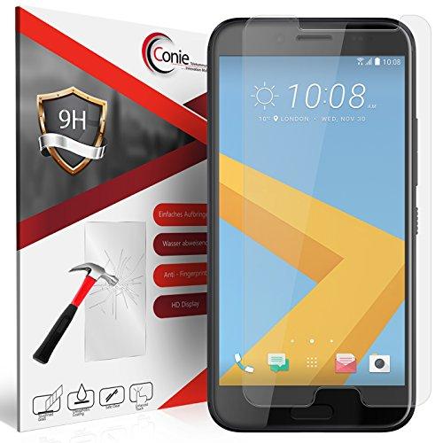 Conie 9H448 9H Panzerfolie Kompatibel mit HTC 10 Evo, Panzerglas Glasfolie 9H Anti Öl Anti Fingerprint Schutzfolie für HTC 10 Evo Folie HD Clear