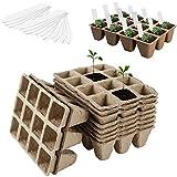 Wohlstand 10 Piezas Bandejas de Semillas Biodegradables,Macetas...