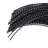 Jardiaffaires 60 Brins de Fil Professionnel Torsade pour débroussailleuse 3mm 35cm