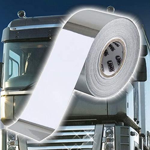 Preisvergleich Produktbild TRUCK DUCK® Universal Chrom Zierstreifen 10m x 30mm Schutzfolie Streifen Aufkleber Klebeband LKW Auto Motorrad