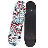 Skateboard 80 X 20 cm Komplettboard Ahornholz Cruiser Holzboard ABEC-11 Kugellager Longboard Farben Zur Wahl,Graffiti