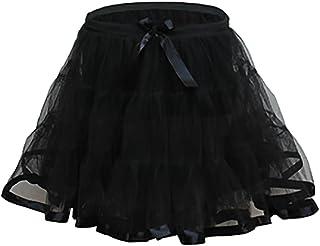 Rimi Hanger Girls 2 Layer Petticoat Tutu Skirt Children Party Dance Wear Fancy Mini Skirt 8-12 Years
