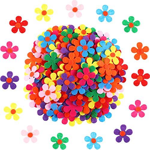 Flores de Fieltro Adornos de Flores de Tela para Manualidades, Colores Variados (100)