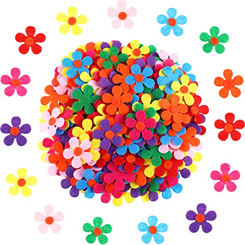 Sumind Felt Flowers Fabric Flower Embellishments for DIY Crafts, Assorted Colors (200)