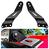 "Nilight 90031B 2PCS 52"" Curved LED Light Bar Bracket at Upper Windshield Roof Cab for 99-06 Chevy Silverado Suburban Avalanche Tahoe & GMC Yukon Sierra, 2 Years Warranty"