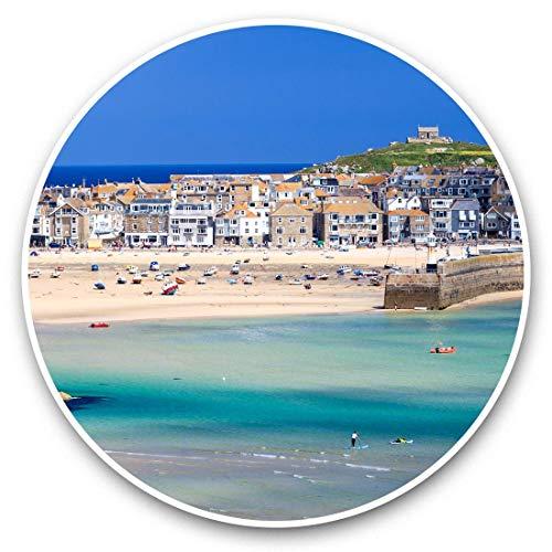 2 pegatinas de vinilo de 30 cm – Porthminster Beach St Ives Cornwall 46157