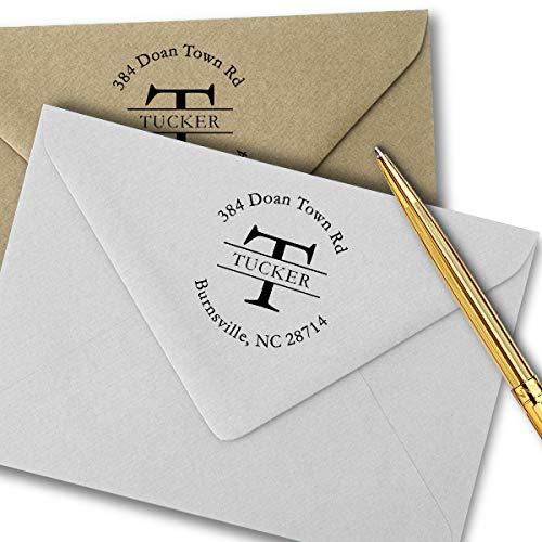 Custom Address Stamp, Self-Inking Monogram Address Stamp, Personalized Address Stamp…