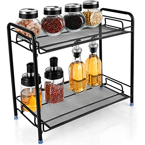Arglife Spice Rack Organizer for Countertop - 2-layer Spice Rack Organizer Countertop Organizer for Countertop Kitchen and Bathroom