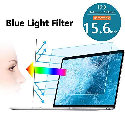 FiiMoo Rimovibile 15.6 Pollici Anti Luce Blu Filtro a Schermo, Filtro antiriflesso Protezione per Gli Occhi Proteggi Schermo per Laptop 15.6