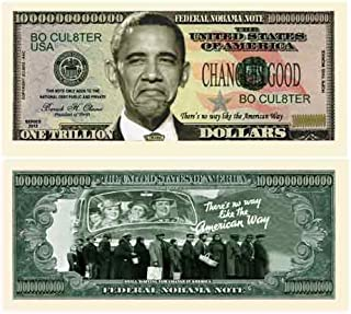 American Art Classics Nobama 2012 Trillion Dollar Bill Collectible - Comes in Currency Holder