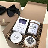 Lavender Spa Gift Box for Women, Mom, Best Friend, Vegan Natural Mothers Day Birthday